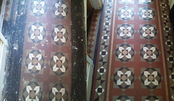 Victorian geometric floor cleaning